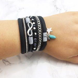 Black Star 🌟 & Infinity ♾ Bracelet